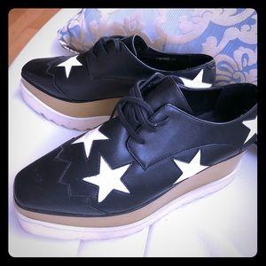 Stella McCartney Elyse black White star oxford